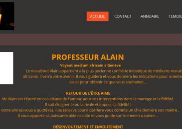 Professeur Alain, spécialiste de l'amour et des ondes positives